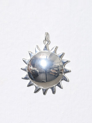 Blue Billie smycke Big Sun Charm Silver