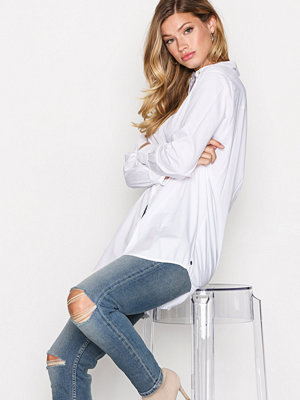 Scotch & Soda Button Up Boyfriend Shirt White