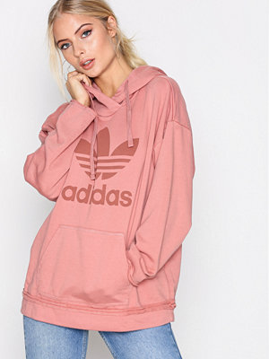 Street & luvtröjor - Adidas Originals TRF Hoodie Rosa