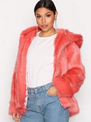 Glamorous Faux Fur Jacket Pink