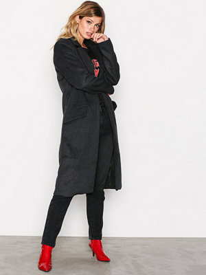 Only onlLOUISE Oversized Long Wool Coat Svart
