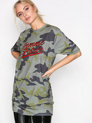 Missguided Camo Graphic T-shirt Green