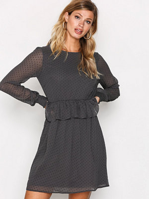 Vero Moda Vmkim L/S Short Dress O17 Mörk Grå