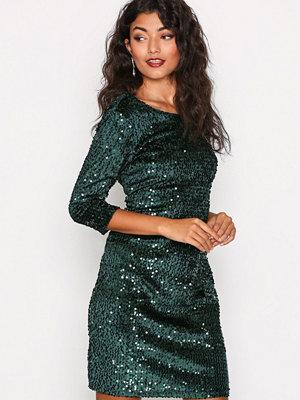Vila Viglitz 3/4 Sleeve Dress/1 Mörk Grön