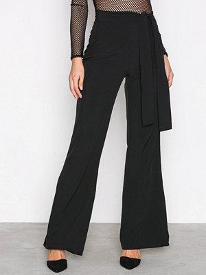 Missguided svarta byxor Wide Leg Trousers Black