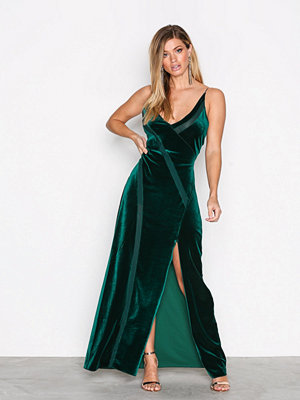 Free People Spliced Velvet Maxi Green