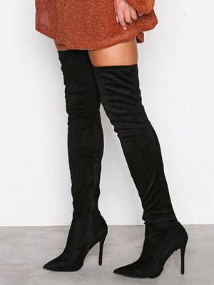 Stövlar & stövletter - River Island Over Knee Boots Black