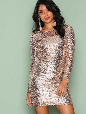 NLY One Tight Sequin Dress Champagne