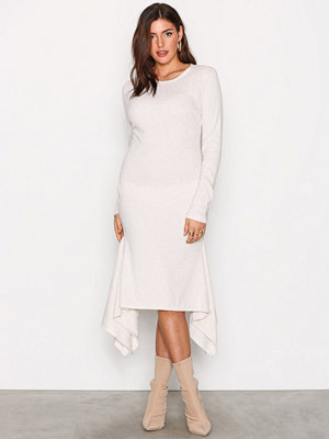 NLY Trend Rib Frill Dress Beige