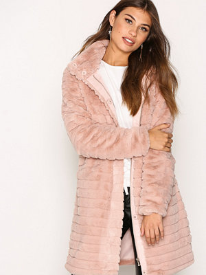 Vila Vimeria Faux Fur Coat/Gv Ljus Rosa