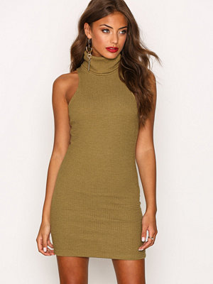 Motel Jourdana Midi Dress Olive