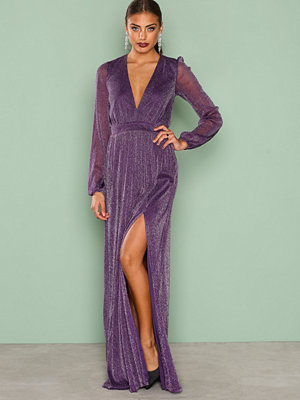 NLY Eve Shimmery Maxi Gown Lila