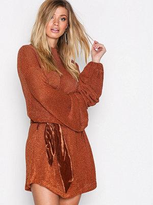 Free People Fete Sweater Dress Terracotta