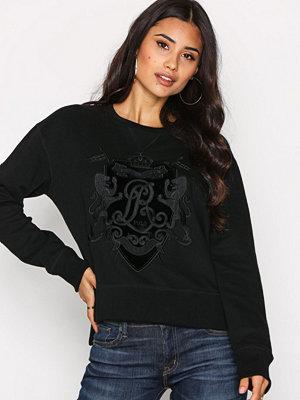 Polo Ralph Lauren Long Sleeve Crew Neck W Knit Top Black
