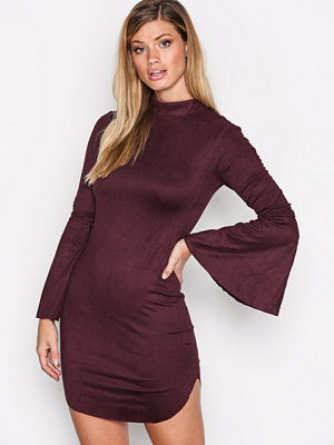 Ax Paris Tie Sleeve Dress Plum