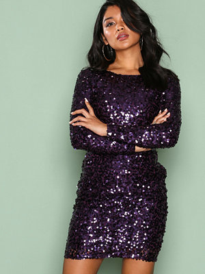 NLY One Tight Sequin Dress Lila