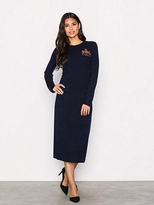 Polo Ralph Lauren Crew Neck Casual Dress Navy