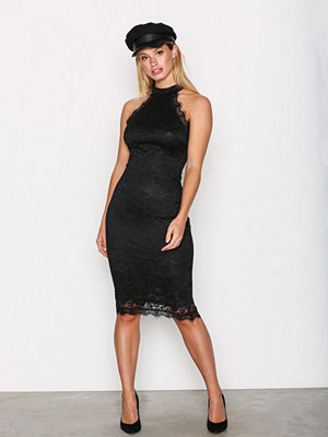 Ax Paris High Neck Lace Dress Black