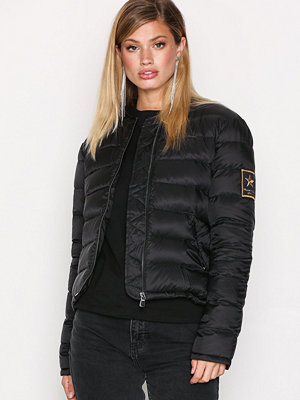 Hunkydory Down Bomber Jacket Black