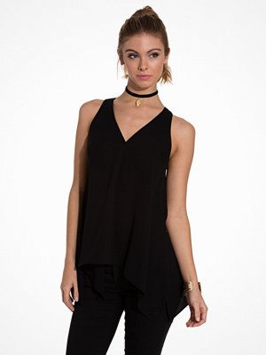 Toppar - River Island SL Hem Vest Black