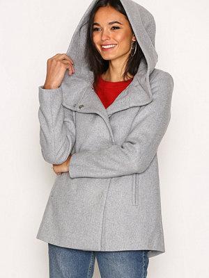 Vero Moda Vmcollar Wool Jacket Noos Ljus Grå