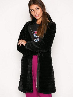 Vila Vimeria Faux Fur Coat/Gv Svart