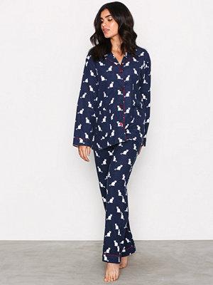 Pyjamas & myskläder - P-J Salvage Flannel PJ Set Navy