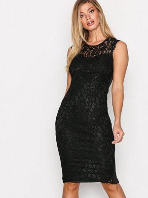 Ax Paris Sleveless Bodycon Lace Dress Black