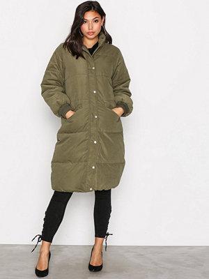 Dunjackor - Vila Vianabella Long Jacket Mörk Grön
