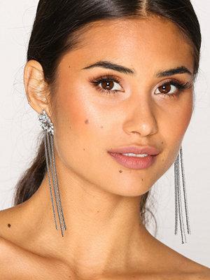 NLY Accessories örhängen Rhinestone Stud & Drop Earrings Silver