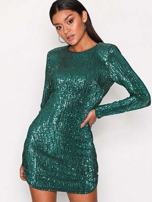 NLY Trend Power Sequin Dress Grön