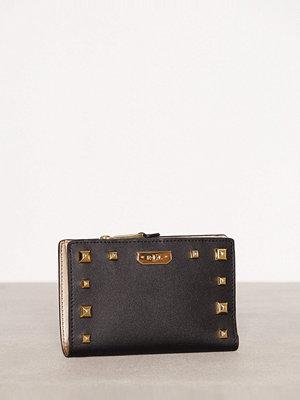 Plånböcker - Lauren Ralph Lauren New Compact Wallet Black/Gold