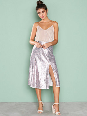 NLY Eve Sequin Skirt Champagne