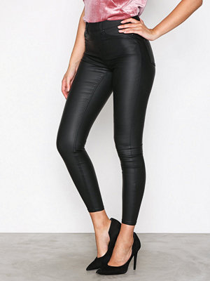 New Look svarta byxor Coated Jegging Black