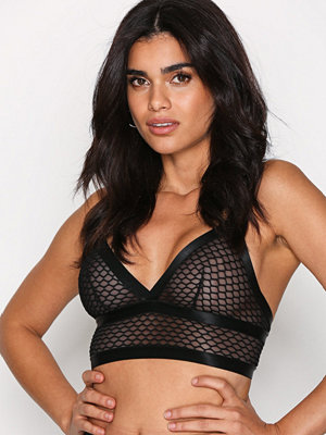 Topshop Fishnet Bralet Black