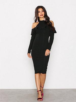 Ax Paris Cold Shoulder Choker Dress Black