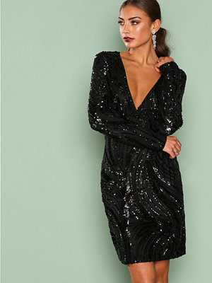 NLY One Luxe Glitter Dress Svart