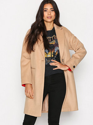 Topshop Relaxed Coat Camel