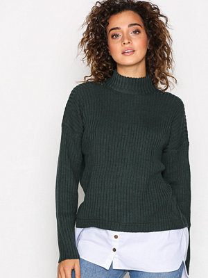 Noisy May Nmnami L/S High Neck Knit 6 Grå