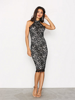 Ax Paris Flower Lace Dress Black
