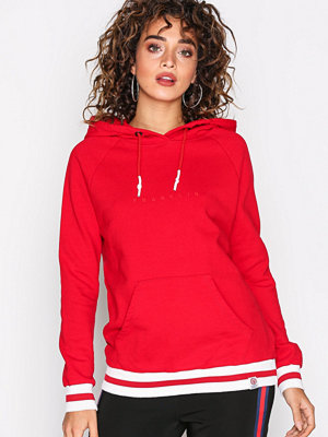 Street & luvtröjor - Franklin & Marshall Fleece Hooded Red