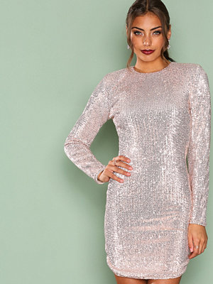 NLY Trend Power Sequin Dress Champagne