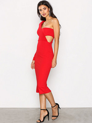 Missguided One Shoulder Bandeau Dres Red