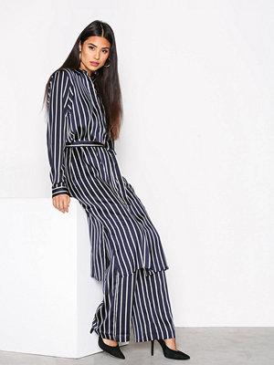 Neo Noir Chili Stripe Dress Navy