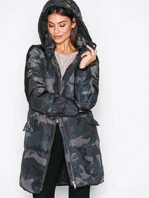 Only onlEDINA Long Nylon Coat Otw Cammo