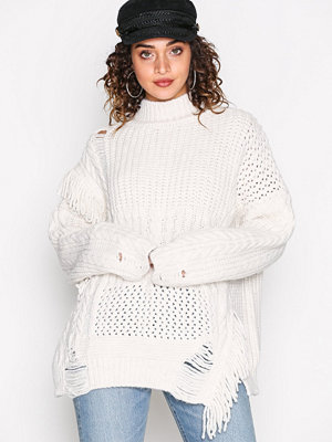 River Island Ultimate Fringe Jumper Stone