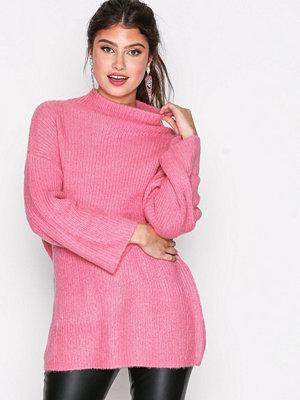 Jacqueline de Yong Jdyolivia L/S Highneck Pullover Knt Rosa