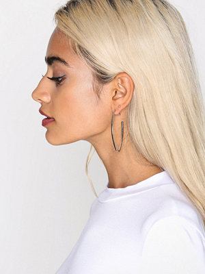 NLY Accessories örhängen Oval Point Hoop Earrings Silver