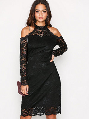 Only onlGOING Out L/S Lace Dress Wvn Svart