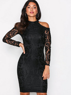 Ax Paris Cold Shoulder Lace Dress Black